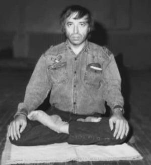 Gregorian Bivolaru in his version of the Lotus position